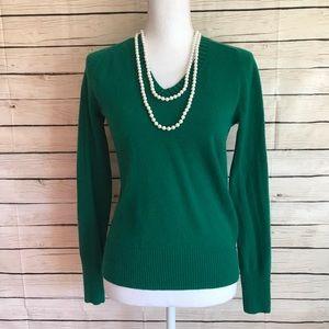 J. Crew Green Cashmere Sweater